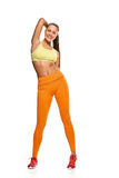 Young woman with slim body Stock Photos