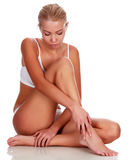 Young woman with slim body Stock Photography