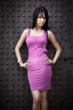 Young woman with slim body royalty free stock images