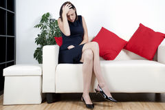 Young woman in smart dress Stock Image
