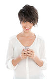 Young woman with smart phone Stock Images