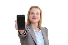 Young woman with a smart phone Stock Photo