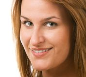 Young woman smiling. Portrait of smiling young woman Stock Photo