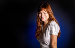 A young woman is smiling Royalty Free Stock Photo