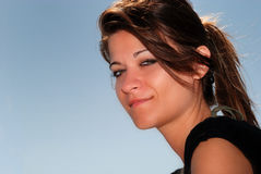 Young woman smiling. Portrait of Young woman smiling Stock Photos