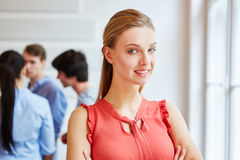 Young woman smiling confident Stock Images