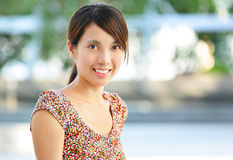Young woman smiling friendly Royalty Free Stock Image
