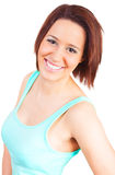 Young woman is smiling Stock Photos