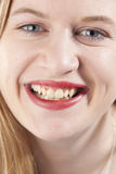 Young woman smiling. GN. Woman with red lipstick smiling. GN royalty free stock photo