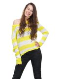 Young woman smiling with hand on hip Royalty Free Stock Photos