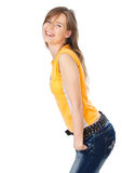 Young woman smiling and posing Royalty Free Stock Photography