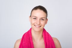 Young woman smiling after workout Royalty Free Stock Photo