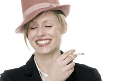 Young woman smoking Royalty Free Stock Photos