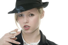 Young woman smoking Royalty Free Stock Photo