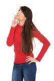 Young woman smoking cigarette. Stock Photos