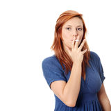 Young woman smoking electronic cigarette Royalty Free Stock Photo