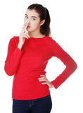 Young woman smoking electronic cigarette Royalty Free Stock Images