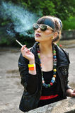 Young Woman Smoking Royalty Free Stock Photography