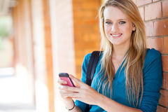 Young woman sms Royalty Free Stock Photography