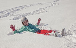 Young woman on  snow Stock Image