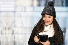 Young Woman In Snow Royalty Free Stock Images
