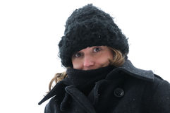 Young woman in Snow winter Stock Image