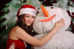 Young woman in snowgirl dress Stock Image