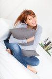 Young Woman on the Sofa Stock Photography