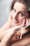 Young woman soft portrait Royalty Free Stock Images