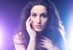 Young woman soft portrait Stock Photos