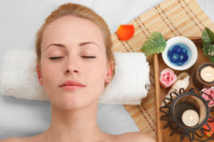 Young woman in SPA Stock Image