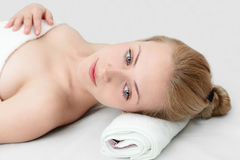 Young woman in SPA Stock Photography