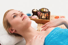 Young woman in SPA Stock Images