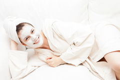 Young Woman in Spa Royalty Free Stock Image