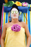 Young woman spa center Stock Photos