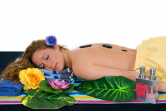 Young woman spa center Royalty Free Stock Image
