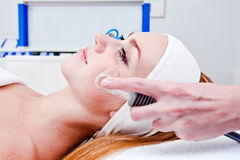 Young woman in spa clinic Royalty Free Stock Images