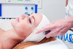 Young woman in spa clinic Royalty Free Stock Image