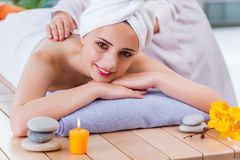 The young woman in spa concept Royalty Free Stock Images