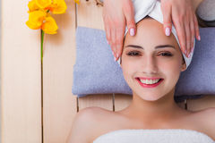 The young woman in spa concept Royalty Free Stock Photo
