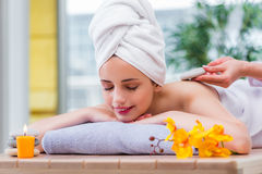 The young woman in spa concept Royalty Free Stock Image