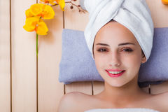 The young woman in spa concept Royalty Free Stock Photography