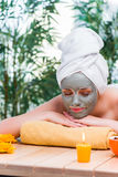 The young woman in spa health concept Stock Photography