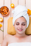 The young woman in spa health concept Stock Images