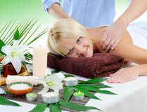 Young woman at spa procedure Stock Photography