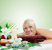 Young woman at spa procedure Royalty Free Stock Photography