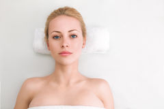 Young woman in SPA Royalty Free Stock Photography