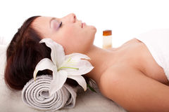 Young woman in spa salon Royalty Free Stock Images