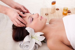 Young woman in spa salon Stock Photos