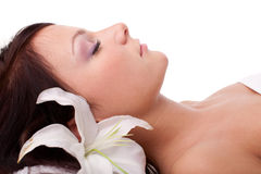 Young woman in spa salon Royalty Free Stock Photography